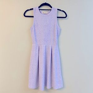 Birdseye Lilac Floral Fit & Flare Dress Small